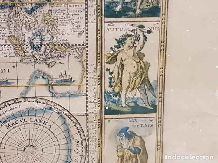 Mapas contemporáneos: ANTIGUA REPRODUCCION ENMARCADA ATLAS MUNDIAL BLAEW LIBRERIA WURTTMBERG AÑO 1645 - Foto 13 - 123378607
