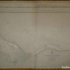 Mapas contemporáneos: MEDITERRANEAN SEA. DAMIETTA EL ARISH EGYPT. Lote 47338653