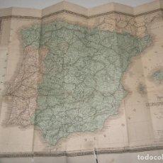 Mapas contemporáneos: CARTE PHYSIQUE ET POLITIQUE DE L'ESPAGNE ET DU PORTUGAL -PARIS GARNIER FRÉRES LIBRAIRES - EDITEURS. Lote 124657859