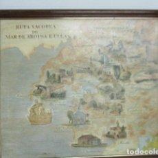 Mapas contemporáneos: GALICIA - RUTA XACOBEA DO MAR DE AROUSA E ULLA -SANCHEZ GALLEGO -MAPA 80X69 CM.- 1992. Lote 125151691