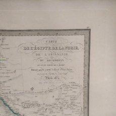 Mapas contemporáneos: 65X51CM GRAN ANTIGUO MAPA 1854 GRABADO - ECIPTE DE NUBIE . GOLFO ARABIA EGIPTO ..... Lote 125222131