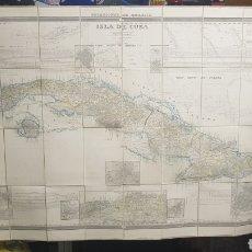 Mapas contemporáneos: MAPA DE LA ISLA DE CUBA, POR FRANCISCO COELLO, 1853 , ENTELADO Y PLEGADO, SEGUNDA HOJA. Lote 125272543