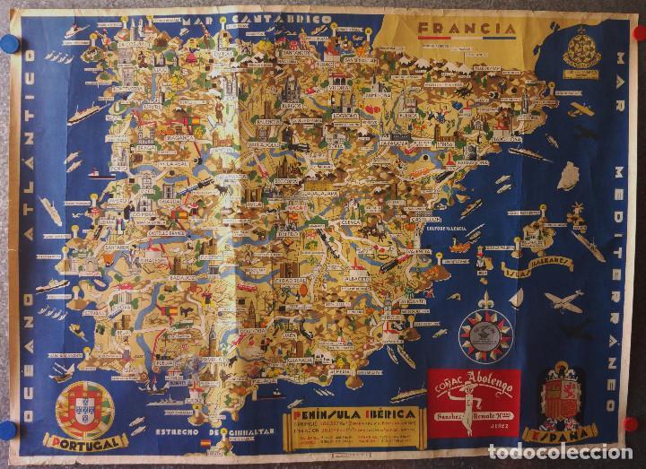 Mapa De España Bonito.Bonito Mapa Espana Portugal Ilustraciones Tradi Vendido En