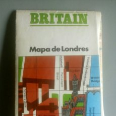 Mapas contemporáneos: MAPA METRO LONDRES 1976. Lote 125295600