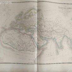 Mapas contemporáneos: 65X51CM GRAN ANTIGUO MAPA 1854 GRABADO - CARTE DE MONDE CONNU MAPA MUNDI MAPAMUNDI MUNDO CONOCIDO. Lote 125724183
