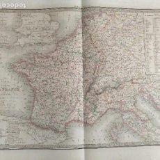 Mapas contemporáneos: 65X51CM GRAN ANTIGUO MAPA 1854 GRABADO - FRANCIA - CARTE DE LA LA FRNCE. Lote 126702839
