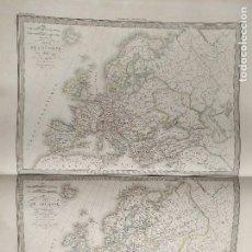 Mapas contemporáneos: 65X51CM GRAN ANTIGUO MAPA 1854 GRABADO - EUROPA - CARTE L´EUROPE. Lote 126703139