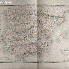 Mapas contemporáneos: 65X51CM GRAN ANTIGUO MAPA 1854 GRABADO - CARTE DE LIBERIE - ESPAÑA PORTUGAL FRANCIA. Lote 126703547