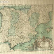 Mapas contemporáneos: CARTE GÉNÉRALE DES ROYAUMES D'ESPAGNE ET DE PORTUGAL - FACSIMIL1725 - I.GEOGRAFICO NACIONAL 1981.. Lote 126968575