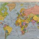 Mapas contemporáneos: PLANISFERIO FISICO Y POLITICO, EDITORIAL VICENS VIVES. Lote 127127731