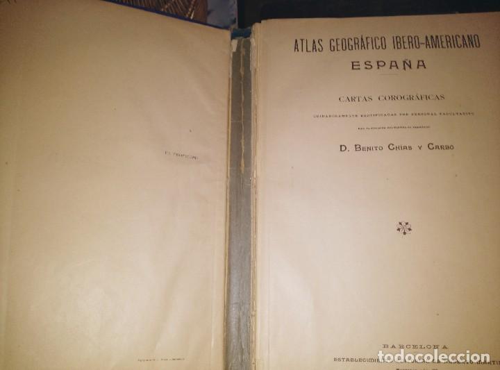 Mapas contemporáneos: ATLAS GEOGRÁFICO 1898, MAPAS DE 1901 A 1903 - Foto 3 - 127147255