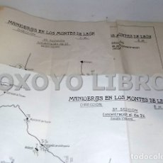 Mapas contemporáneos: MAPA MILITAR. MANIOBRAS EN LOS MONTES DE LEÓN. DIRECCIÓN E. M. 3ª Y 4ª SECCIÓN. ESCALA 1: 100.000. Lote 165181733
