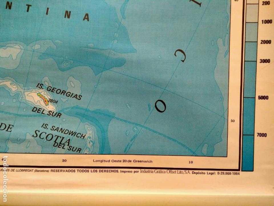 Mapas contemporáneos: MAPA ESCOLAR DOBLE AMÉRICA SUR POLÍTICO FÍSICO - EDICIONES EDIGOL AÑOS 80 - MEDIDAS 119 X 90 CM - Foto 5 - 127680671