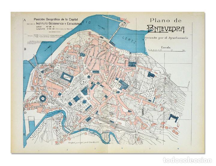 Mapa De Pontevedra Ciudad.Plano De La Ciudad De Pontevedra De 1915 Belli Comprar Mapas Contemporaneos En Todocoleccion 128501391