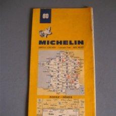 carte de france michelin n 80 rodez nimes