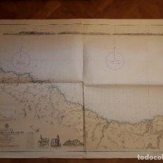 Mapas contemporáneos: CARTA NAUTICA NAVEGACION -- COSTA NORTE DE ESPAÑA - DE GUETARIA A CABO OGOÑO - ENERO 1973.. Lote 129249319