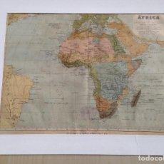 Mapas contemporáneos: MAPA DE ÁFRICA 1876. Lote 129379631