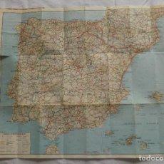 Mapas contemporáneos: MAPA DE CARRETERAS DE ESPAÑA PUBLICIDAD DE ITAL RENT A CAR - ALQUILER DE AUTOMÓVILES. Lote 129382399