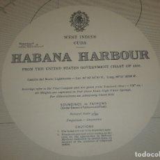 Mapas contemporáneos: CARTA MARITIMA WEST INDIES CUBA HABANA HARBOUR 140 CM X 86 CM . Lote 135622250
