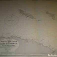 Mapas contemporáneos: CARTA MARITIMA PUNTA DE SAN JUAN TO CABO SAN ROMAN 140 CM X 86 CM. Lote 129565279