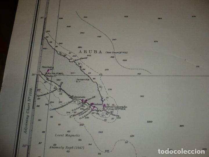 Mapas contemporáneos: CARTA MARITIMA PUNTA DE SAN JUAN TO CABO SAN ROMAN 140 CM X 86 CM - Foto 3 - 129565279