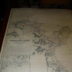 Mapas contemporáneos: CARTA MARITIMA TUNIS FRATELLI ROCKS TO MAHEDIA 140 CM X 100 CM. Lote 129565675