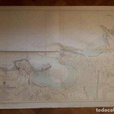 Mapas contemporáneos: CARTA NAUTICA NAVEGACION - PUERTO DE SAN SEBASTIAN - JUNIO 1973.. Lote 129726999