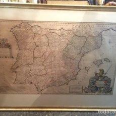 Mapas contemporáneos: MAPA DE ESPAÑA Y PORTUGAL 1711 HERMAN HOLL , JOHN DUKE OF ARGILES. Lote 129974150