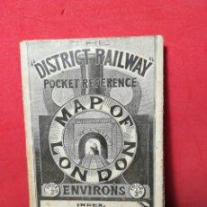 Mapas contemporáneos: ANTIGUO MAPA DESPLEGABLE DE LA RED DE TRANVÍA DISTRICT RAILWAY DE LONDRES Y ALREDEDORES - 1904?. Lote 130115876