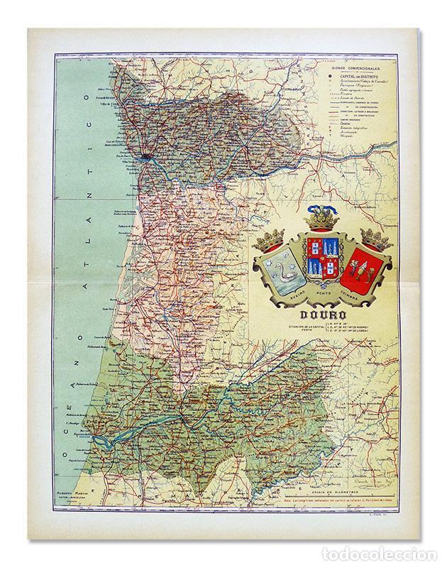 Mapa De 1902 De Douro Portugal Aveiro Porto Buy Contemporary