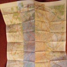 Mapas contemporáneos: CARTES TARIDE PARIS AÑOS 60. Lote 124026783
