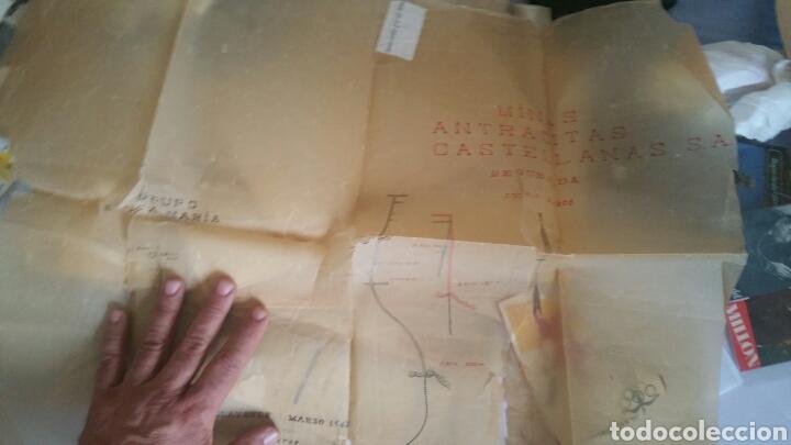 PLANO DE LAS MINAS DE ANTRACITAS CASTELLANAS REQUEJADA VILLAVERDE 1947 (Coleccionismo - Mapas - Mapas actuales (desde siglo XIX))