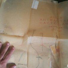 Mapas contemporáneos: PLANO DE LAS MINAS DE ANTRACITAS CASTELLANAS REQUEJADA VILLAVERDE 1947. Lote 130535519