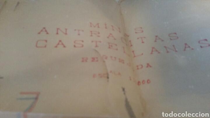 Mapas contemporáneos: Plano de las minas de antracitas castellanas Requejada Villaverde 1947 - Foto 2 - 130535519