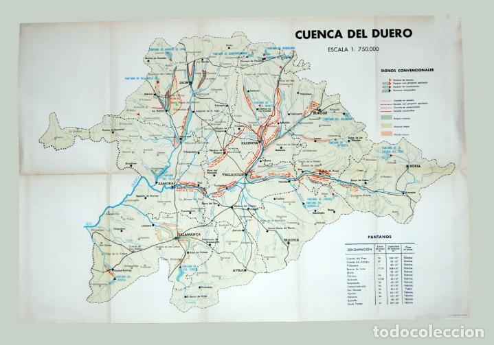 Cuenca Del Duero Mapa.Cuenca Del Rio Duero Publicaciones Del Ministerio De Obras Publicas 1939 69x42 Cm