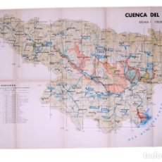 Mapas contemporâneos: CUENCA DEL RIO EBRO - PUBLICACIONES DEL MINISTERIO DE OBRAS PUBLICAS - 1939 - 76X47 CM. Lote 130951252