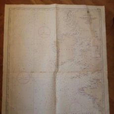 Mapas contemporáneos: CARTA NAUTICA NAVEGACION - GOLFO DE VIZCAYA Y COSTA OCCIDENTAL DE INGLATERRA IRLANDA ISLAS HEBRIDAS. Lote 129725315