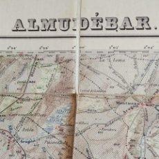 Mapas contemporáneos: MAPA DE ALMUDEVAR, HUESCA, ENCARTADO ORIGINAL EN TELA. . Lote 131073876