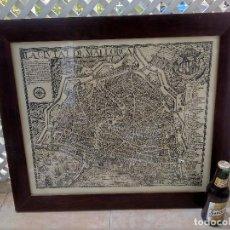 Mapas contemporáneos: PRECIOSO CUADRO MAPA CIUTAT DE MALLORCA DEL AÑO 1664 REPLICA?? MIRAR FOTOS NO ENTIENDO DEL TEMA. Lote 131095156
