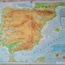 Mapas contemporáneos: MAPA ESCOLAR PENINSULA IBERICA Y ESPAÑA POLITICA. AÑO 1984. Lote 131334766