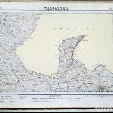 Mapas contemporáneos: MAPA (1950) VALCARLOS (NAVARRA) - INSTITUTO GEOGRÁFICO Y CATASTRAL VER DESCRIPCIÓN. Lote 131900334