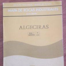 Mapas contemporáneos: MAPA DE ROCAS INDUSTRIALES. ALGECIRAS. IGME. ESCALA 1: 200000. Lote 132138342