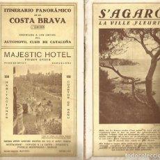 Mappe contemporanee: ANTIGUO FOLLETO MAPA ITINERARIO PANORÁMICO DE LA COSTA BRAVA 1ª ED 1933 AUTOMOBIL CLUB DE CATALUÑA. Lote 132412386
