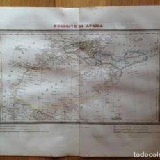 Mapas contemporáneos: MAPA NORDESTE DE ÁFRICA TARDIEU, ALABERN. IMPRESO EN 1835.. Lote 132420602