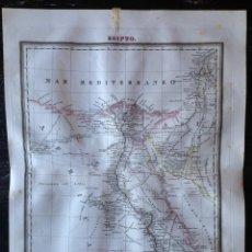 Mapas contemporáneos: MAPA CALCOGRÁFICO DE EGIPTO. GRABADO POR DOMINGO ESTRUÉ EN 1831. DOMINGO ESTRUÉ. TARDIEU.. Lote 132502502