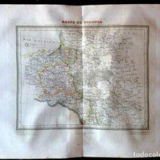 Mapas contemporáneos: MAPA CALCOGRÁFICO REINO DE POLONIA GRABADO POR RAMÓN ALABERN 1835. Lote 132630690