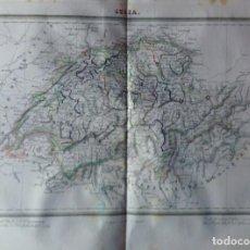 Mapas contemporáneos: MAPA SUIZA BARCELONA 1835. TARDIEU.. Lote 132633522