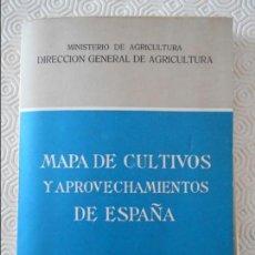 Mapas contemporáneos: MAPA DE CULTIVOS Y APROVECHAMIENTOS DE ESPAÑA. MAPA AGRONOMICO NACIONAL CON LA COLABORACION DEL INST. Lote 132707798
