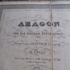 Mapas contemporáneos: EXCEPCIONAL MAPA ENTELADO ARAGON MUY RARO 1836 NO 1837 ZARAGOZA HUESCA TERUEL DUFOUR DE PARIS. Lote 133020606