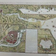 Mapas contemporáneos: MAPA DESCRIPTIVO GOLFO DE VIZCAYA CIUDAD DE BILBAO DEL ABRA Y COSTA GABRIEL BAUDWIN 1739 1742 VASCO. Lote 148416289